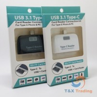 OTG - 4 in 1 Smart Card Reader Connection Kit Type C Adapter