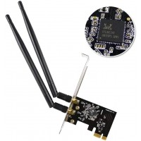 EDUP WiFi Card AC1200Mbps 2.4GHz/5GHz Dual Band PCI Express (PCIe) Wireless Adapter Network Card with 2×6dBi External Antenna for Desktop