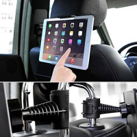 Universal Heavy Duty Car Tablet Headrest 360° Degree Rotating Mount and Holder