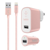 Belkin Charging Kit with iPhone Charging Lightning USB Cable and Car Charger Adapter