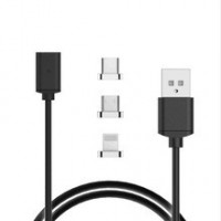 3 in 1 Magnetic Cable Micro USB / Lightning / Type C Fast Connect USB Cable