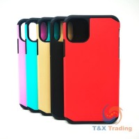Apple iPhone 11 Pro Max - Silicone With Hard Back Cover Case