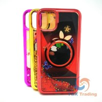 Apple iPhone 11 Pro Max -  Water Liquid Case with Pop Socket Mirror