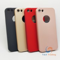 Apple iPhone 5 / 5S / SE - Slim Line Silicone Phone Case with Front Cover