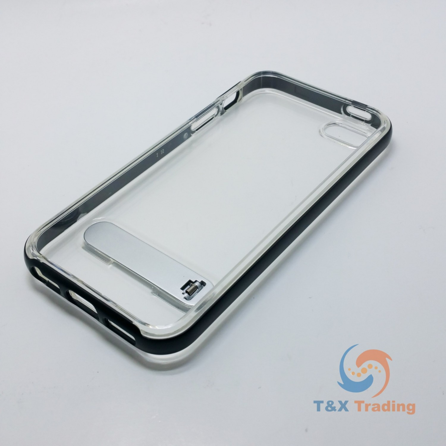 Apple Iphone 5 5s Se Tanstar Aluminum Bumper Frame Case With 5se Kickstand Series Blackblack