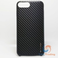 Apple iPhone 6 Plus / 6S Plus / 7 Plus / 8 Plus - WUW Black Carbon Fiber Case