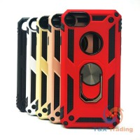 Apple iPhone 6 / 6S / 7 / 8 - Transformer Magnet Enabled Case with Ring Kickstand