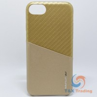 Apple iPhone 6 / 6S / 7 / 8 - WUW Two Tone Gold Leather Credit Card Holder Case