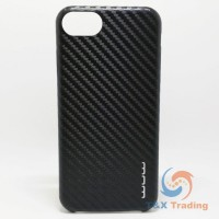 Apple iPhone 6 / 6S / 7 / 8 - WUW Black Carbon Fiber Case