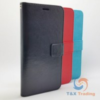 LG K20 2019 - Book Style Wallet Case With Strap