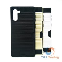 Samsung Galaxy Note 10 - Slim Sleek Case with Credit Card Holder Case