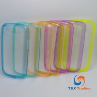 Samsung Galaxy S3 - Color Edge Silicone Phone Case With Dust Plug