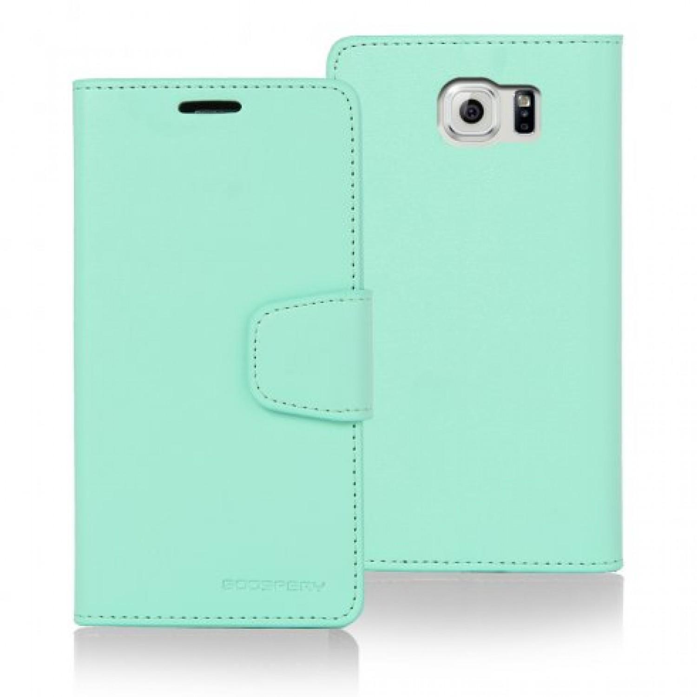 Samsung Galaxy S6 Edge Goospery Sonata Diary Case Canvas Black