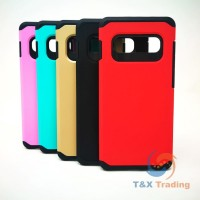 Samsung Galaxy S10 - Silicone With Hard Back Cover Case