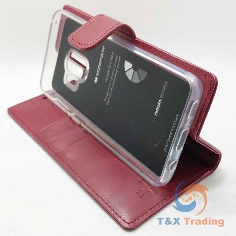 Samsung Galaxy S9 Goospery Blue Moon Diary Case Note 5 Bravo Gold
