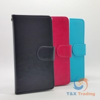Universal A4 (4.3-4.8 inch) - Book Style Wallet Case with Strap