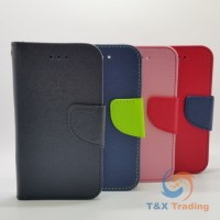 Universal XXL (5.3-5.7 inch) - Book Style Wallet Case with Strap
