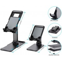 Universal Holder - Lifting Folding Phone and Tablet Holder to Desktop with Adjustable Height (Mix Colors)