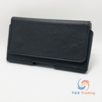 Leather Holster Pouch For Cell Phone with Belt Clip and Magnetic Closing