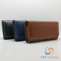 360 Horizontal Leather Belt Clip Holster Case 4.7""