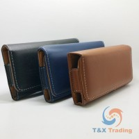 360 Horizontal Leather Belt Clip Holster Case 5.5""