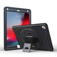"Apple iPad 12.9"" 2nd Gen 2017 - Heavy Duty Shockproof Rotatable Case with Kickstand"