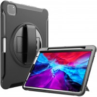 "Apple iPad 12.9"" 4th Gen 2020 - Heavy Duty Shockproof Rotatable Case with Kickstand"