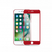 Apple iPhone 7 Plus / 8 Plus - Product Red Full Cover Tempered Glass Screen Protector