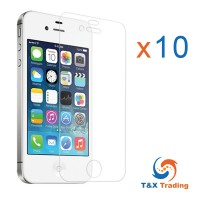 Apple iPhone 4 / 4S BOX (10Pcs) Tempered Glass Screen Protector