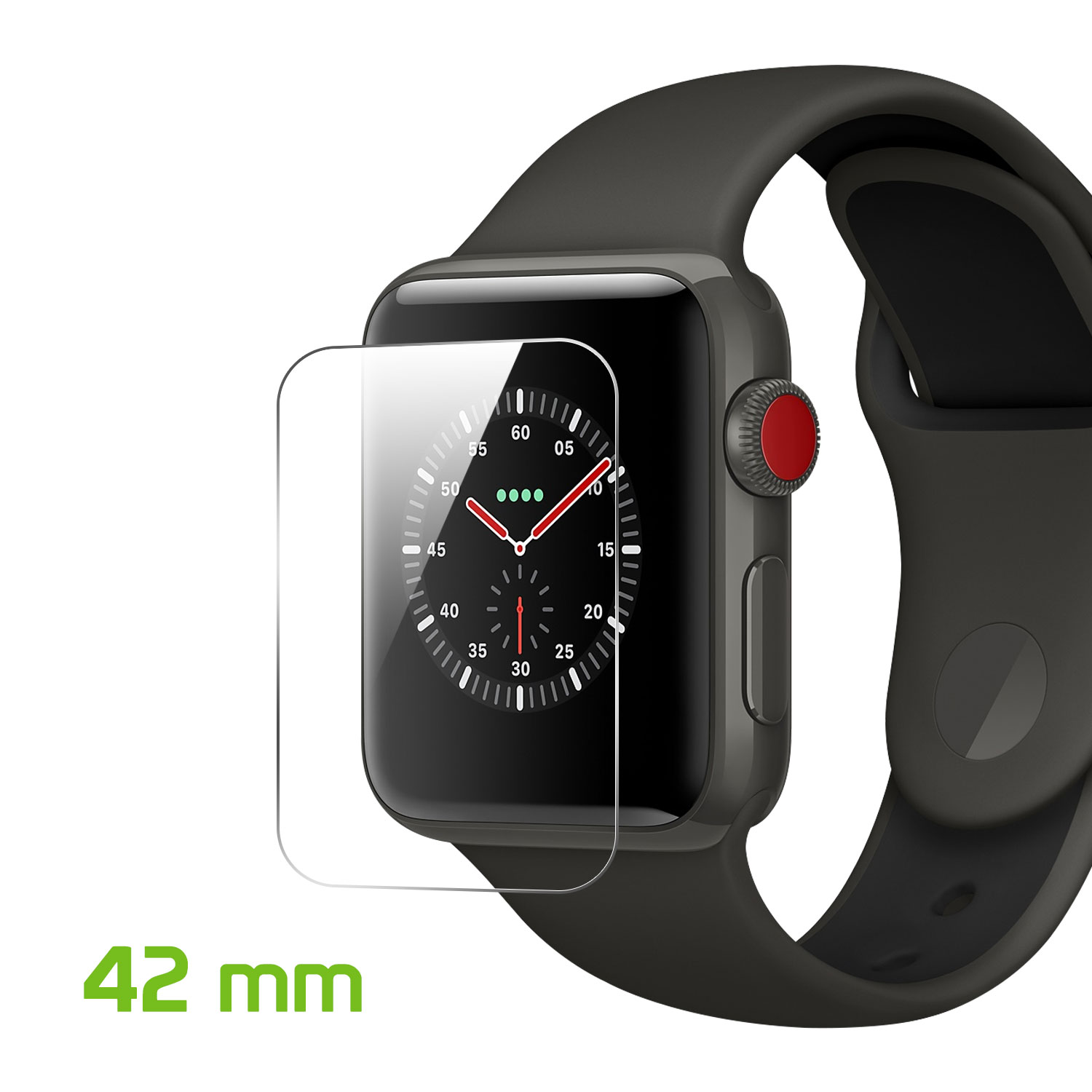Apple iWatch - 3D Full Glue Tempered Glass Screen Protector 44mm