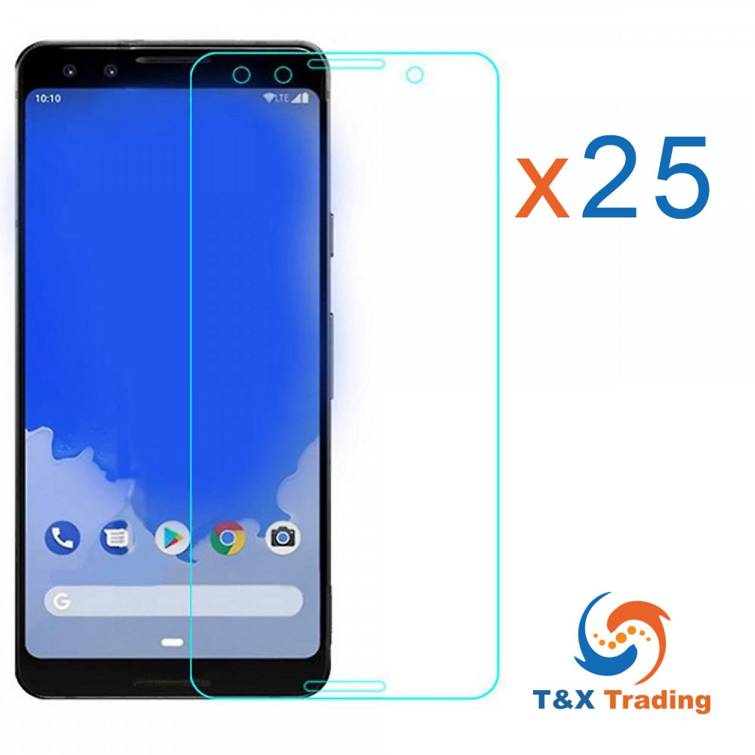 Google Pixel 3 XL Bulk (25Pcs) Tempered Glass Screen Protector