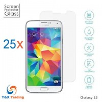 Samsung Galaxy S5 Bulk (25Pcs) Tempered Glass Screen Protector