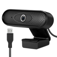 1080P HD Webcam with Microphone for Teleconferencing and USB Driver for Laptop Desktop PC