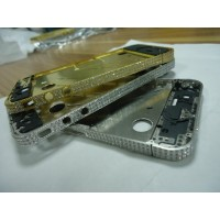 Iphone 4 4G diamond Mid frame Gold with side buttons screw