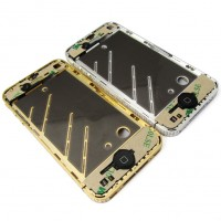 Iphone 4 4G diamond Mid frame Gold sim tray screw full installed