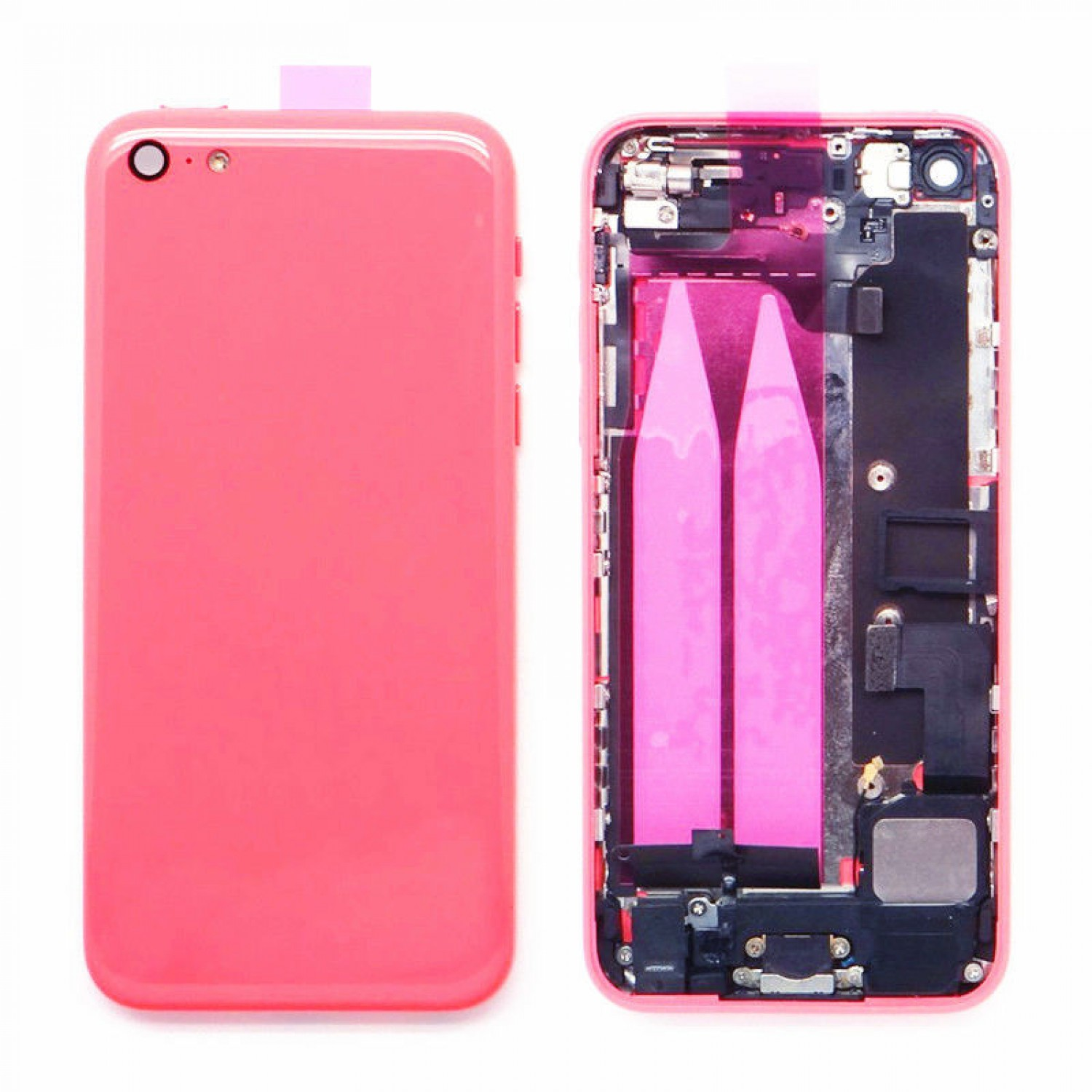 back housing parts installed for iphone 5C