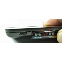 sim and SD card slot plastic cover for Blackberry Q5