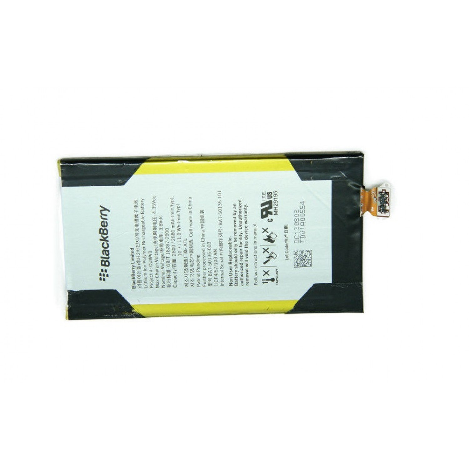 replacement battery BAT-50136-003 for blackberry Leap Z20