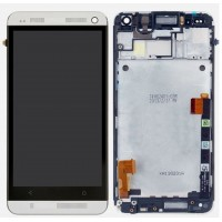 LCD digitizer assembly for HTC M7 One 801e 801h with frame