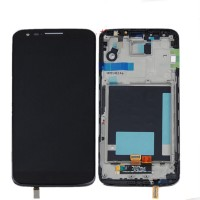 LCD digitizer assembly LG G2 D800 D801 D803 LS980 Black with frame