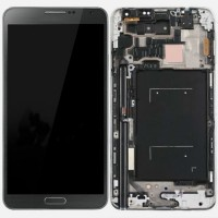 LCD digitizer with frame for Samsung Note 3 N9000 ATT N9005 Grey