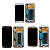 LCD with frame Black Samsung S7 Edge SM-G935A G935A G935 G9350