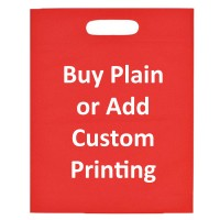 Red Die Cut Non Woven Reusable Bag 11x13.5""